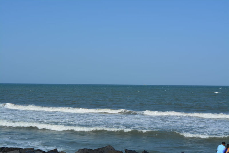 #Nature  #Skyline #Waves #beach #beachlife #clear And Transparent Water #clearsky #pondicherry #sea #sky #water Perspectives On Nature