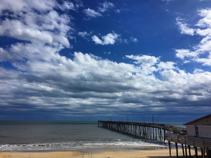 Pier Nags Head Fishing Pier Clouds And Sky EyeEm Best Shots EyeEm Nature Lover Outer Banks, NC Saltlife 🌊🌤
