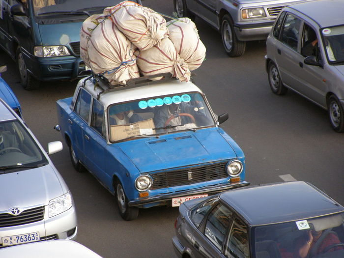 Taxi in Addis Ababa Cars Ethiopia Mode Of Transport Public Transportation Street Taxi Traffic Heavy Load Load Africa Transport Transportation Public Transport