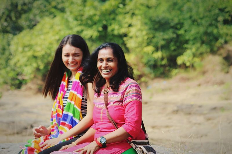 Smiling Two People Happiness Real People Cheerful Togetherness Family Family Time Mother Outdoors Sitting Young Adult Portrait Bonding Colors Of Life DSLR Photography Canon Beauty In Nature Multi Colored Freshness Live For The Story