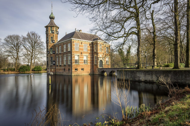 Bouvigne castle in Breda, the Netherlands. The Netherlands. Breda Bouvigne Castle Architecture Historic Historical Monuments Monument Building Long Exposure