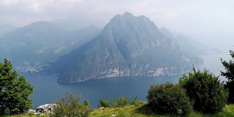 lake and mountains 😍 Iseo Lake Italy Nature Mountains Italia Discovering Italy Tree Water Mountain Lake Sky Foggy Mountain Peak Mountain Ridge Fog Valley Mist