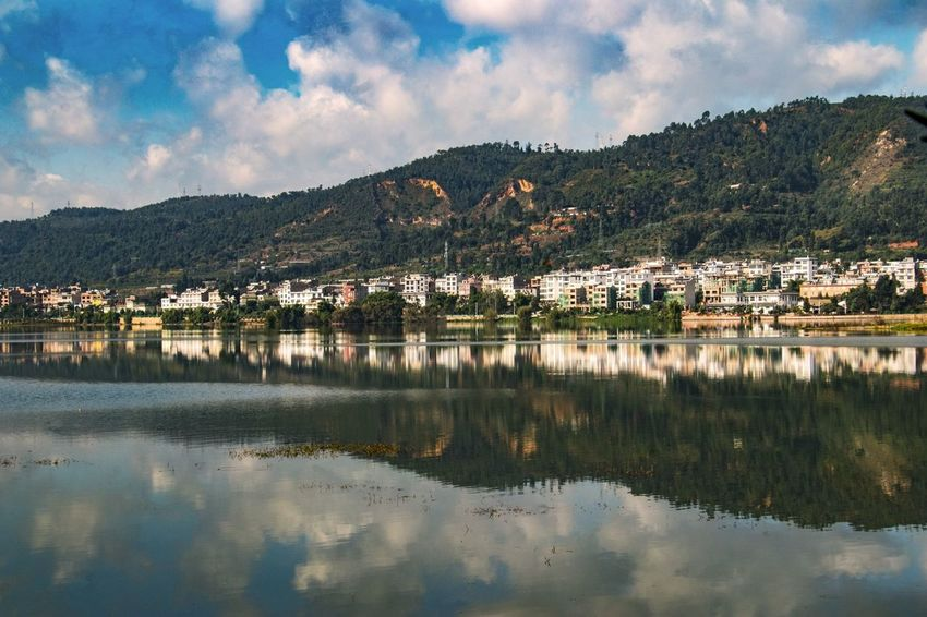 Mountain Town Lake Outdoors Water Inverted Images Village Lakefront Quite Place