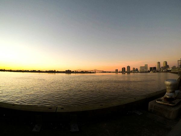 Gopro Neworleans EyeEmNewHere EyeEm Selects Actioncam Color Sunrise Sun Lake Sunset City Skyscraper Cityscape Architecture Sky Travel Destinations Urban Skyline No People Day