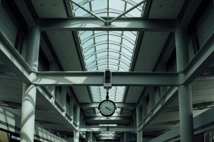 Low Angle View Of Ceiling At Railroad Station