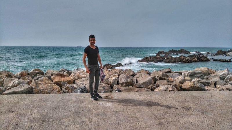 Beach Horizon Over Water Sea One Person Welcome To Algeria 🇩🇿 Xperiam4aqua