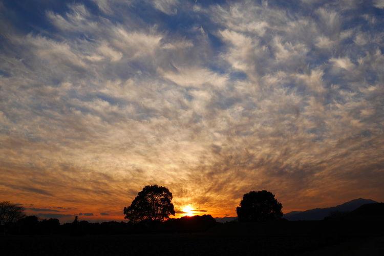 sunset sky Blue