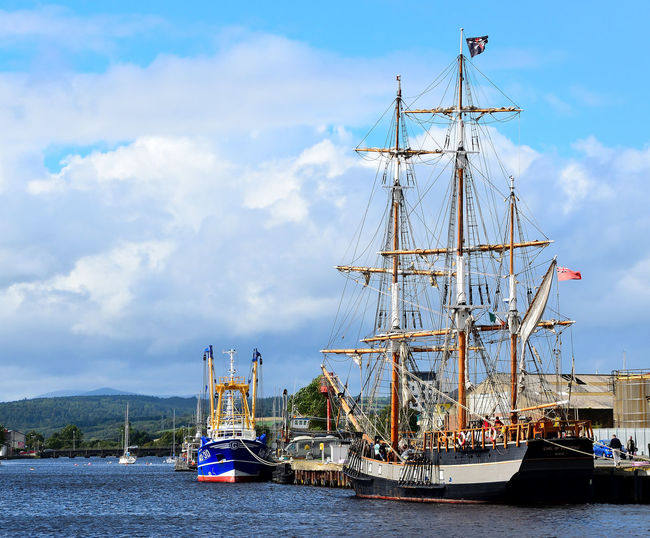 Co Wicklow, Ireland EyeEm Best Shots New On Eyeem Romantic Sailing Ship Scenery Shots Tall Ship The Week On EyeEm Transportation Arklow Avoca River Clouds And Sky Colorful Earl Of Pembroke Historic Nautical Vessel Outdoors Photography Sky Square Rigger Water