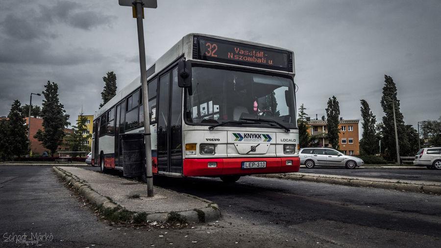 Bus Volvo Volvobus Volvobuses Saracakis B7r Sky Sky And Clouds Blue Green Red Hungary