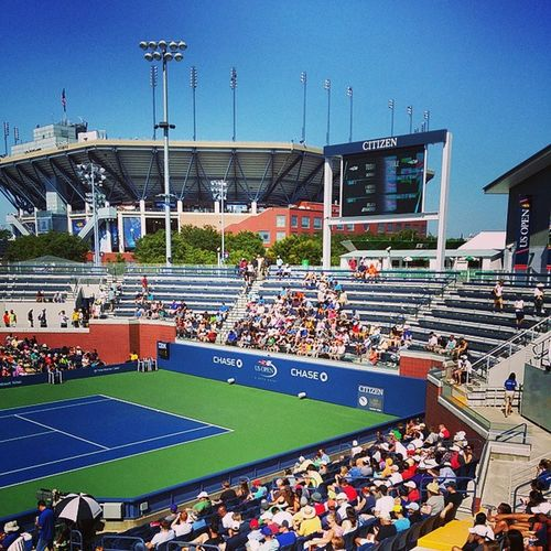 Court 17: Youzhny M v Kyrgios N looking fwd. Travel Tennis Usopen