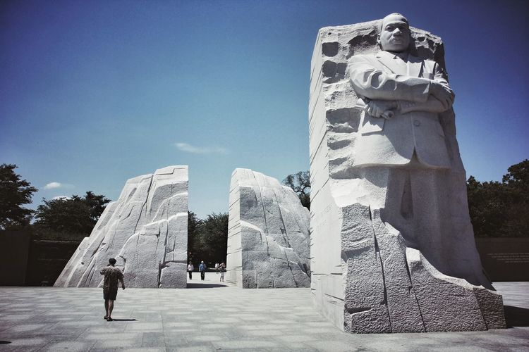 My favourite monument! MLK's monument in Washington, DC shows strength and dedication Martin Luther King Memorial  Martin Luther King Martin Luther King Jr MLK Day MLK Mlk2018 I Have A Dream One Man Only Outdoors Day Pyramid Only Men My Best Travel Photo