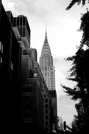 Architecture Building Exterior Built Structure Chrysler Building City Cityscape Day Modern No People Outdoors Travel Destinations Tree