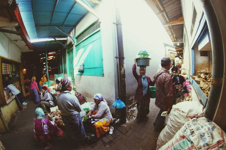 Busy market ASIA Street Outdoors People Market Street Market Place INDONESIA Summer Surabaya Surabaya In The Morning Adults Only Indoors  Real People Portrait