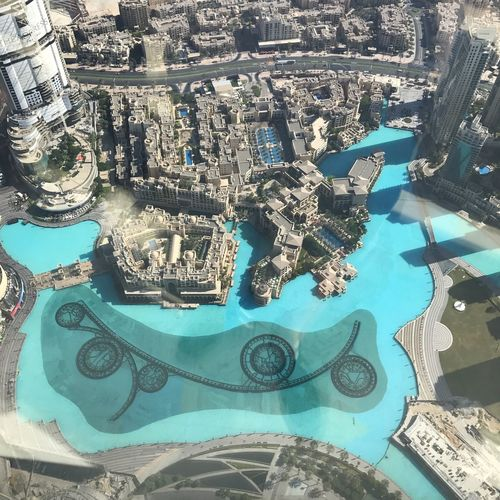 High Angle View Dubai Dubaidowntown Burj Khalifa 136floor Architecture Higher Place Onthetop Nice View