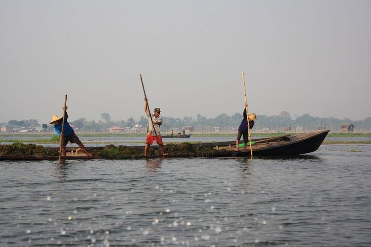 Burma Fishermen Inle Lake Myanmar Shan State