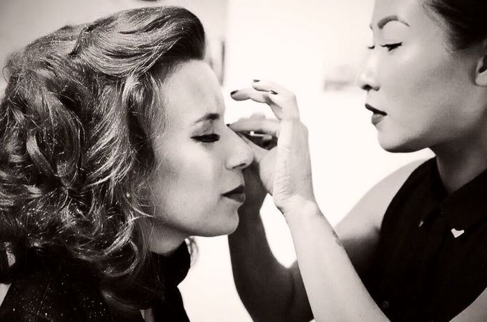 Glamourous MaisonDecoiffure Check This Out Sexylips Lipstick Makeup Frenchgirl Beautiful Sexygirl Blackandwhite Glamour Retro Style 60's Look Pinups Girlshavefun Boudoir Photography Keeping It Classy
