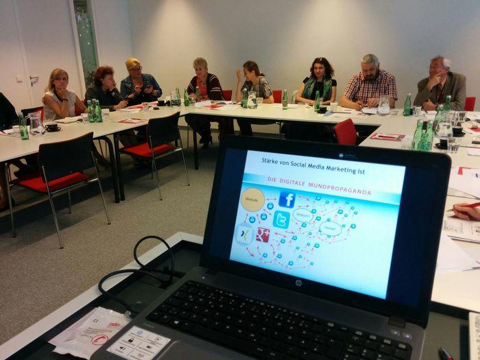 Heute beim Socialmedia Marketing Seminar in Wien mit Unternehmen Wien Socialmedia Social Media Workshop Austria
