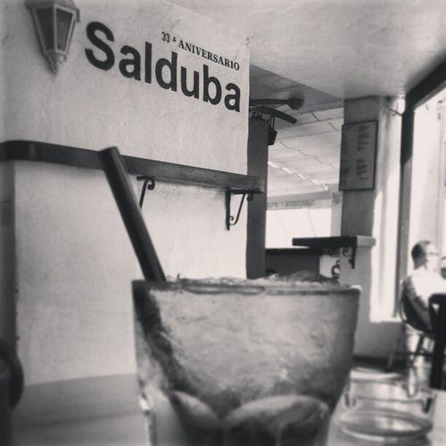 Enjoying a Mojito at Salduba Pub puerto banus puerto_banus marbella spain