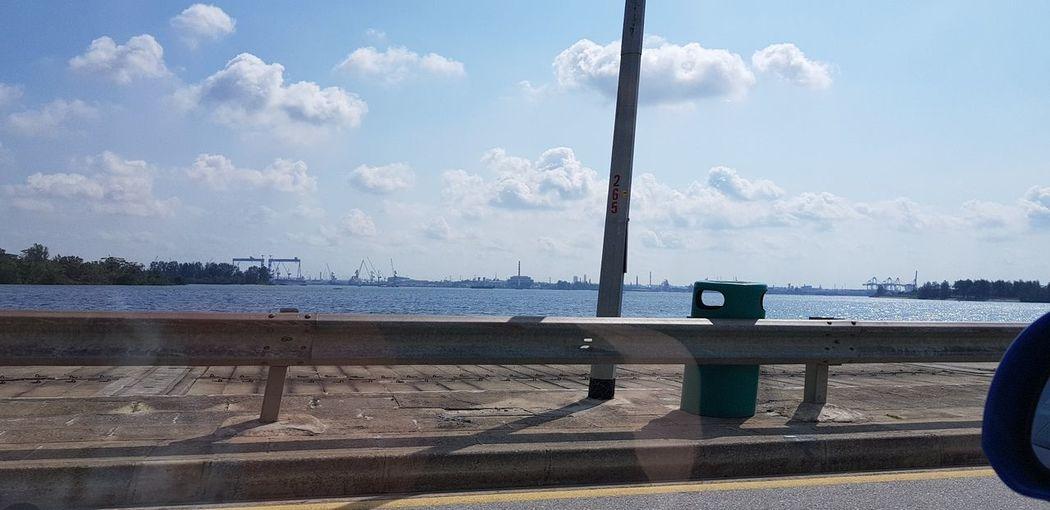 short cut to city City Water Sea Tree Bridge - Man Made Structure Sky Cloud - Sky Pier Calm Urban Skyline