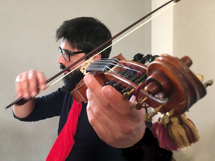 Power of Music Baroque Music Baroque Ancient Music Music Instrument Musica Musik Hands Red Scarf Bow Love Valerio Losito Violon Violin Violinista Viola D'amore Musician Music Inner Power Visual Creativity