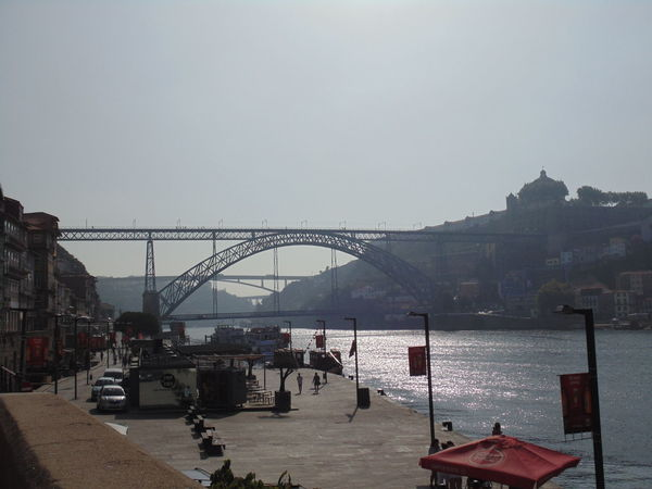 Douro  Ponte Luis I Porto Porto Portugal 🇵🇹 Architecture Bridge - Man Made Structure Building Exterior Built Structure City Cityscape Clear Sky Connection Day Mountain Nature No People Outdoors Sea Sky Transportation Water The Week On EyeEm Oporto Best Travel Destination 2017 Metalic Structure