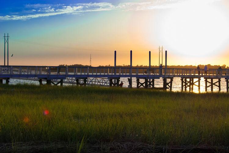 Hide-and-seek: Pier Edition. Sunset Nature Silhouette EyeEm Charleston