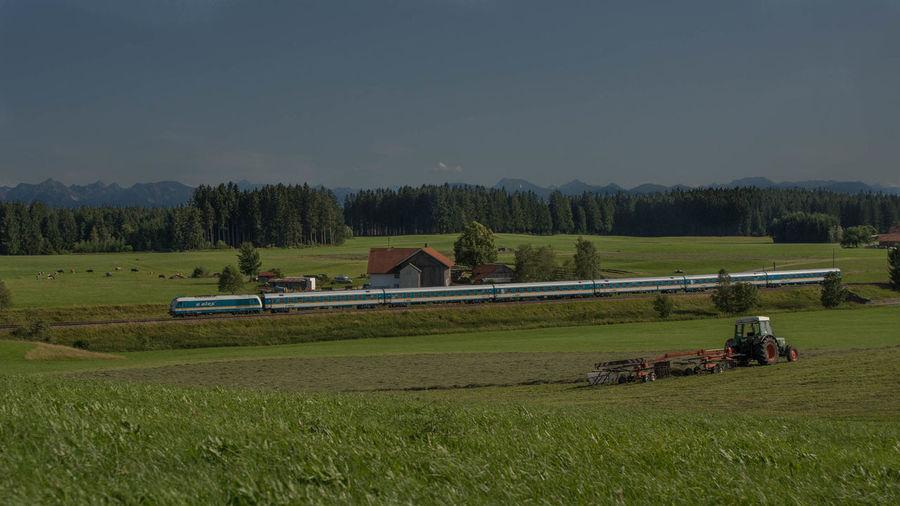 Abendstimmung Alex Allgäu Alpen Bayern Deutschland Eisenbahn Görwangs Railway