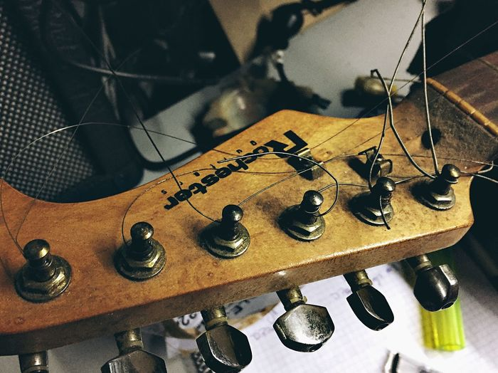 Reissue ElectricGuitar Guitar Stratocaster Telecaster Indoors  Still Life No People High Angle View Close-up Metal Jewelry Musical Instrument String Instrument Music String Musical Instrument String Choice Arts Culture And Entertainment Sunlight Hanging Necklace