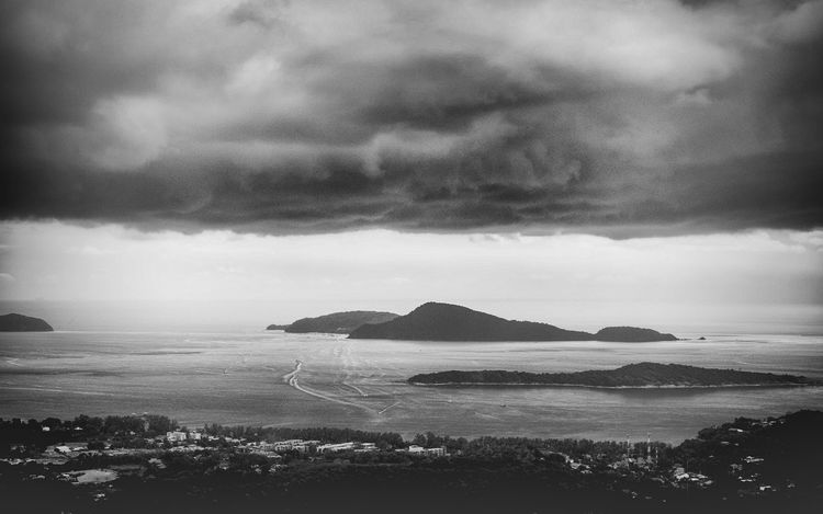 The storm Rain Drops Cliff Rain The Storm Beauty In Nature Cloud - Sky Day Landscape Monochrome Monochrome Photography Monochrome_life Mountain Nature No People Outdoors Scenics Sea Sky Tranquil Scene Tranquility Water