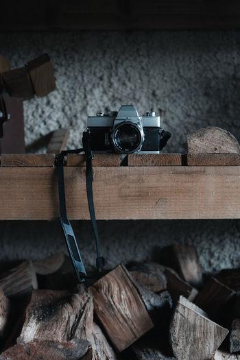 High angle view of camera