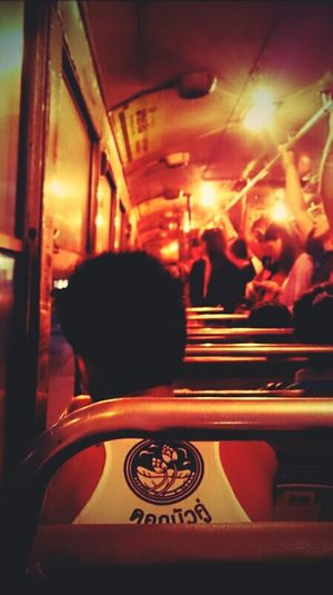 nata de coco.. Nightbus Life Light And Shadow Red Traveling Man Bangkok Thailand. Nightlights Streetphotography Moveing