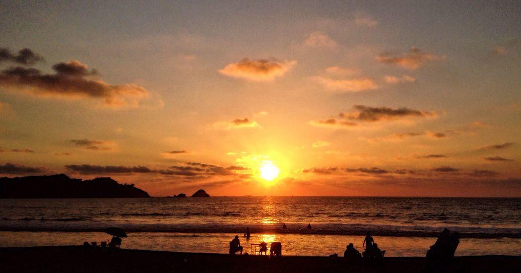 Sea Sunset Beach Water Beauty In Nature Sun Scenics Nature Horizon Over Water Outdoors Tranquil Scene Sand Day