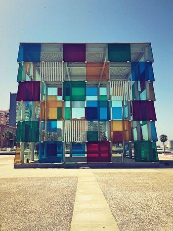 Pompidou Glass Cube Glass Art Cubes Glass Colours Squares Architecture Art Gallery Centre Pompidou Malaga