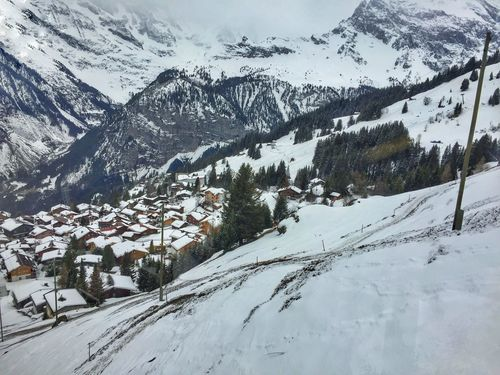 Scenery Winter Snow Cold Temperature Mountain White Color Landscape Tranquil Scene Scenics Snowcapped Mountain Nature Outdoors Idyllic Tranquility Picturesque Ski Resort  Valley Chalet Switzerland Village Alpine Solitude Idyllic Scenery Outdoor Photography