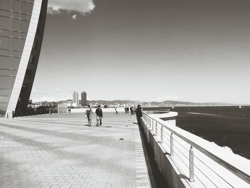 Same Same But Different Vanishing Point Barcelona Blackandwhite Zoom In