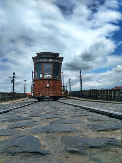 Sky Cloud - Sky Outdoors Day Heritage Site Travelphotography Lascasasfilipinasdeacuzar Oldtrain Horse Old-fashioned Rails Train