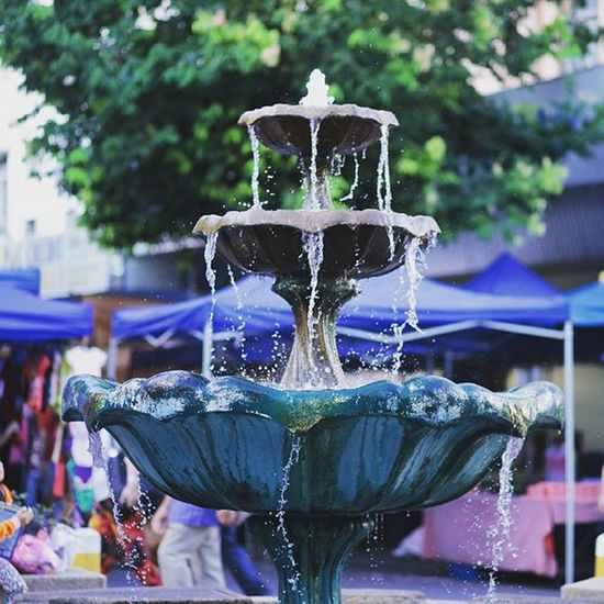 Fountain view Gaya Street - Kota Kinabalu , Sabah Gayastreet Kotakinabalu Sabah Negeribawahbayu Tourism Malaysia Reflexsology Market Pasar Vscomalaysia Vscography VSCO