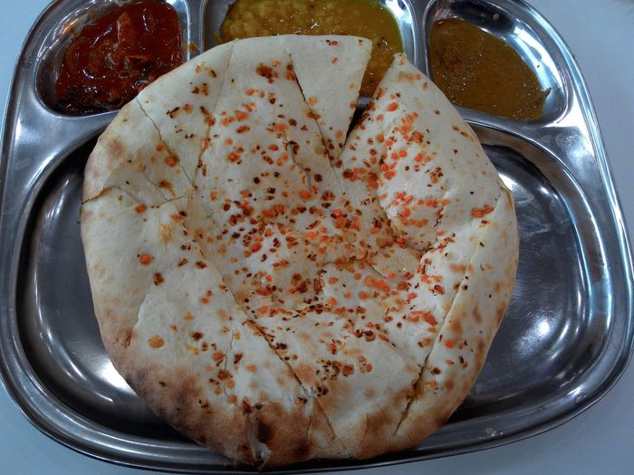 Close up of Naan bread, a famous indian food Food And Drink Indoors  High Angle View Food Close-up Healthy Eating Naancheese Non-alcoholic Beverage