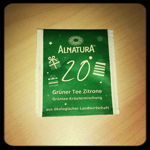 War jetzt nicht so toll... Tea ALNATURA