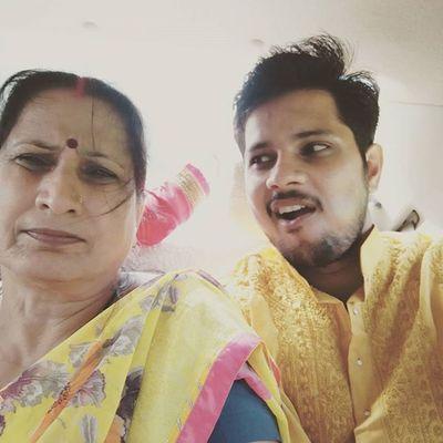 with my Maa .. going to Holy place Namisharan har har mahadev 🙏 😉