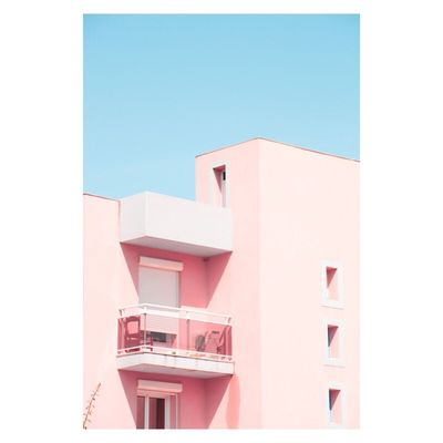 Building Exterior Architecture Built Structure Clear Sky No People Day Outdoors Pastel Power Colors Minimalism City Photography Fine Art Photography Contemporary Art Pink
