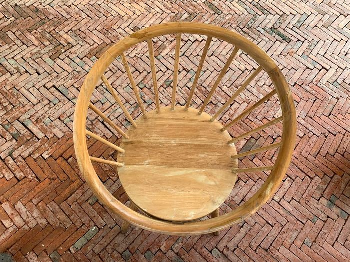 Basket Wood - Material Container Pattern No People Wicker Brown Geometric Shape High Angle View Close-up Circle Indoors  Table Art And Craft Shape Seat Directly Above Single Object Still Life Chair Place Mat