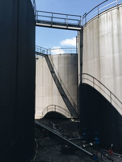 Storage tanks at factory