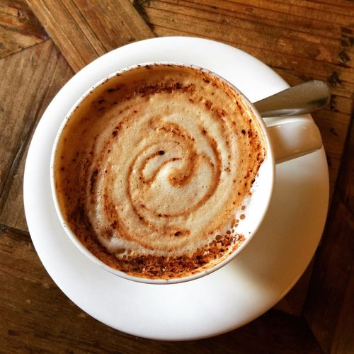 Time for coffee? Coffee - Drink Coffee Cup Table Drink Food And Drink Cappuccino Frothy Drink Refreshment Froth Art Latte No People Indoors  Freshness Mocha Day