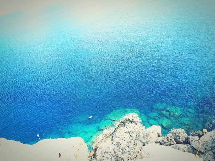 EyeEm Selects water blue nature greek greece Rhodes sea Water Blue Nature Beauty In Nature Day Sea Sunlight Outdoors Beach Tranquility Scenics No People Close-up First Eyeem Photo