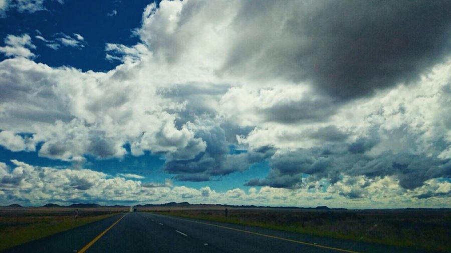 En Route. Shot taken by my mate Andrew Baylis in Central Karoo, edited by me with vsco. VSCO Cam Skyporn Sky Collection Cloudporn En Route Roadtrip Karoo Cloud_collection  Checksthatsky