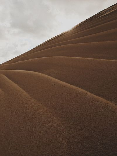 View Of Sand Dunes Against Sky