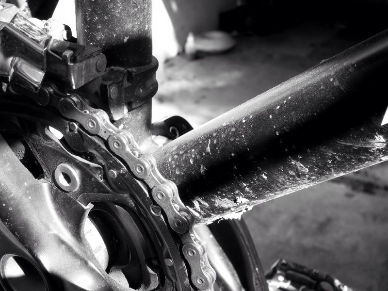 Chainring Chain Bicycle Chain Gears Equipment No People Metal Dirty Bike Bicycle MTB Mountainbike Perspective Black And White Blackandwhite No Budget Photography