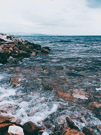 Hello World Blue Sky Blue Sea Presence Peace ✌ Horizon Waves