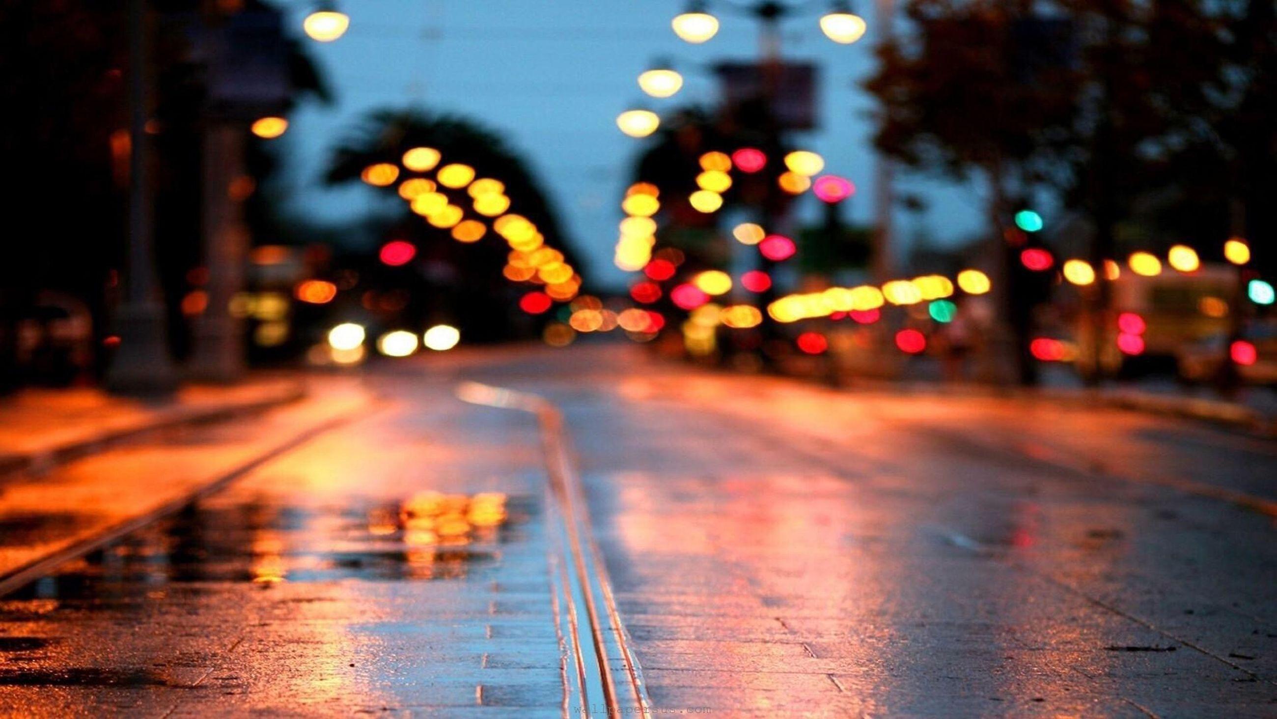 illuminated, transportation, night, street, defocused, city street, land vehicle, no people, city, road, outdoors, roadways, close-up